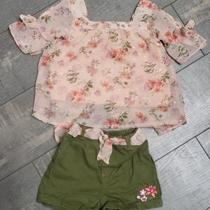 Little lass girls size 4 outfit
